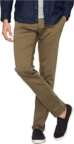 Johnny Regular Rise Slim Chino in Sage Twill