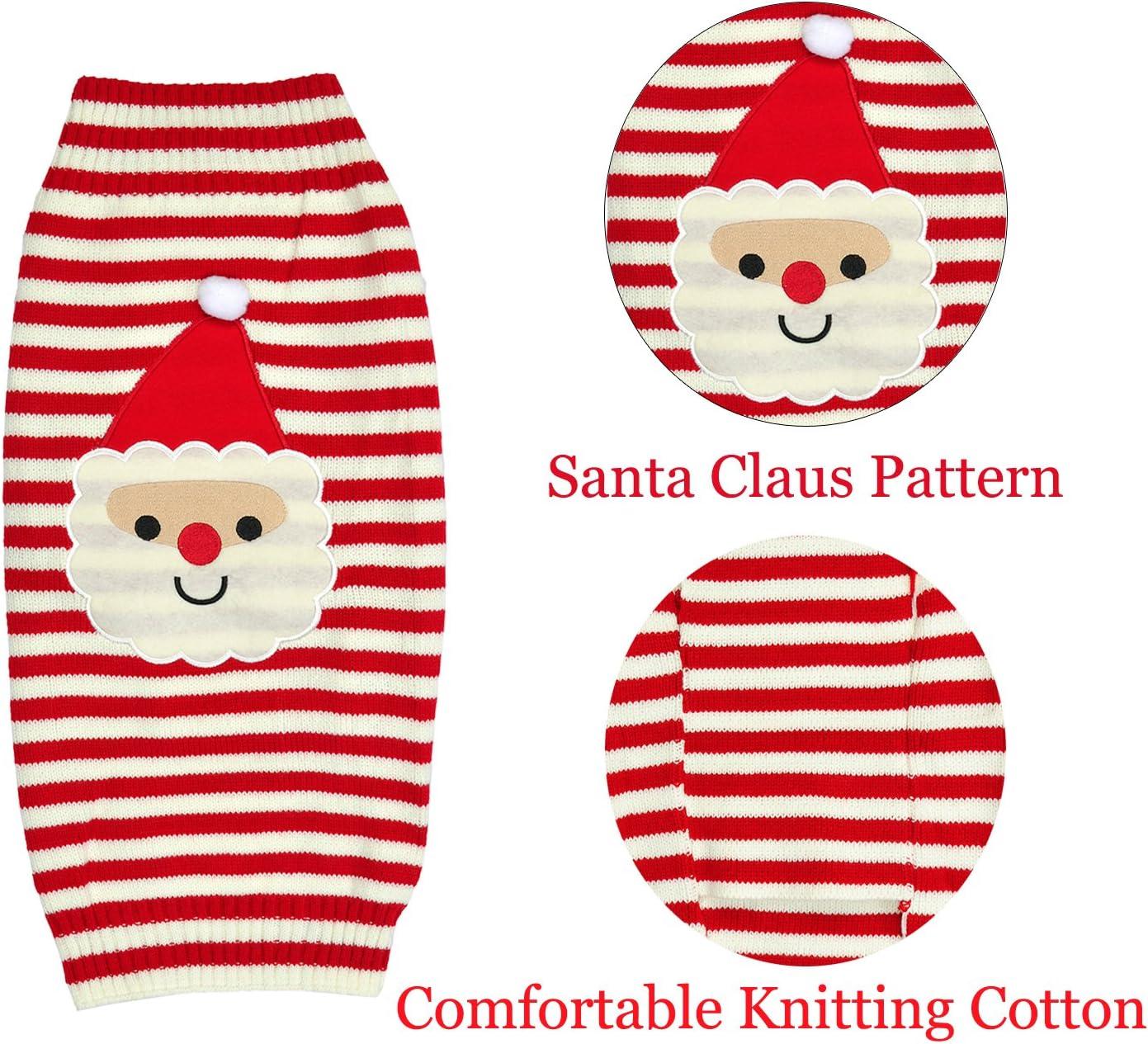 Ranking Weihnachten Knitted Baumwolle Hund Hoodie Turtleneck Sweater Haustier Pullover Jumper Costume Bekleidung Weihnachten Deko f/ür Ihr Hund