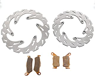 RipTide Front and Rear Brake Rotors and Brake Pads fits 2000-2003 fits KTM 400 EXC