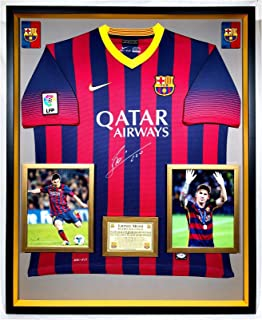2c1db3fabee Premium Framed Leonel Messi Autographed Signed Barcelona Official Nike  Jersey Shirt - PSA COA