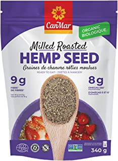 CanMar Organic Hemp Seed (12oz/340g) | Milled Hemp Seeds | Ready to Eat - Great Taste & Aroma | Ideal Plant Based Protein ...