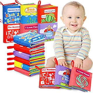 Mumoo Bear Cloth Books Baby, My First Non-Toxic Soft Cloth Book, Educational Toys Gifts for First Year 1 Year Old Babies I...
