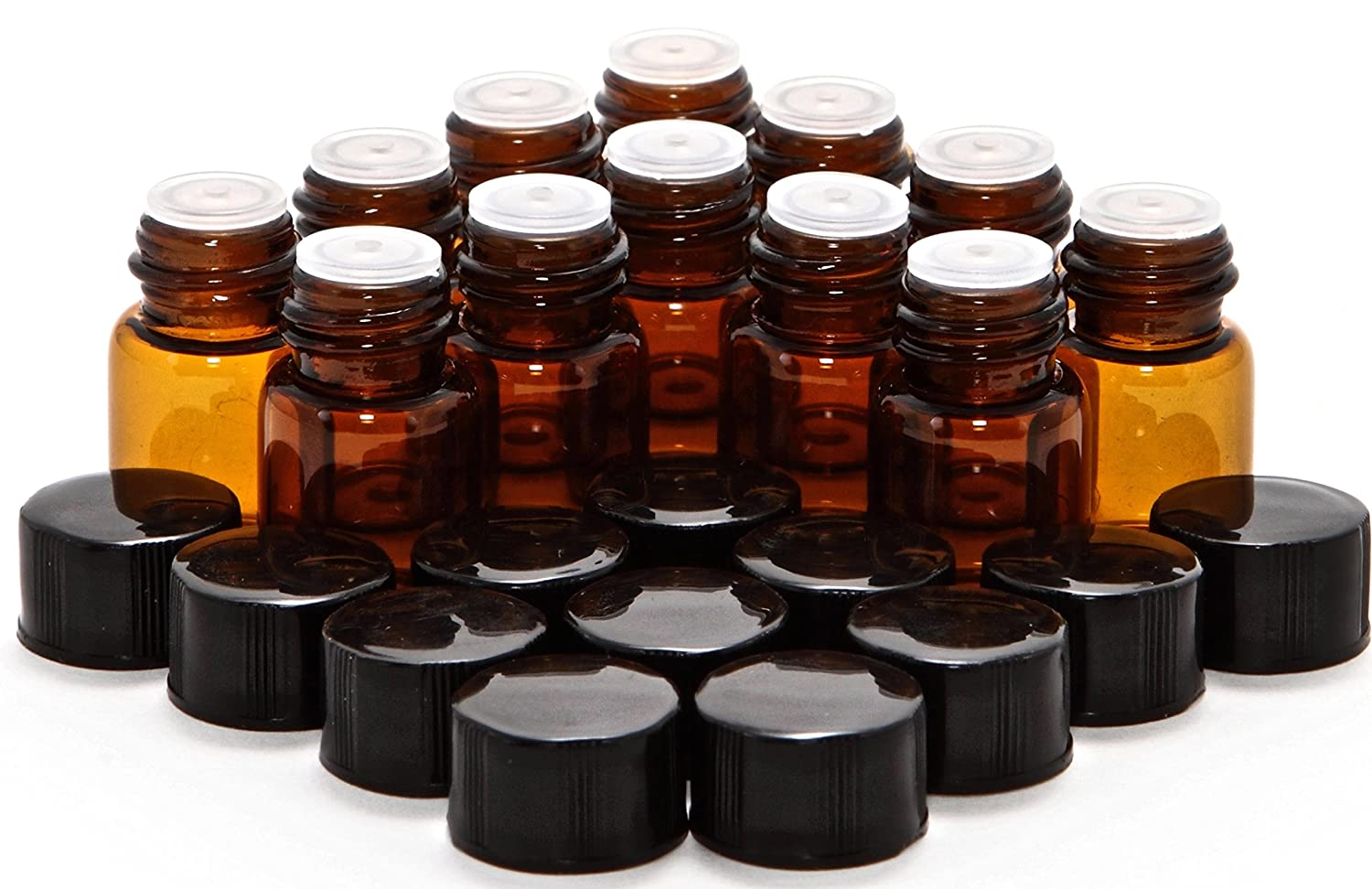 12 Amber 2 Max 62% OFF Deluxe ml 5 8 Reducers with Glass Bottles Dram Orifice