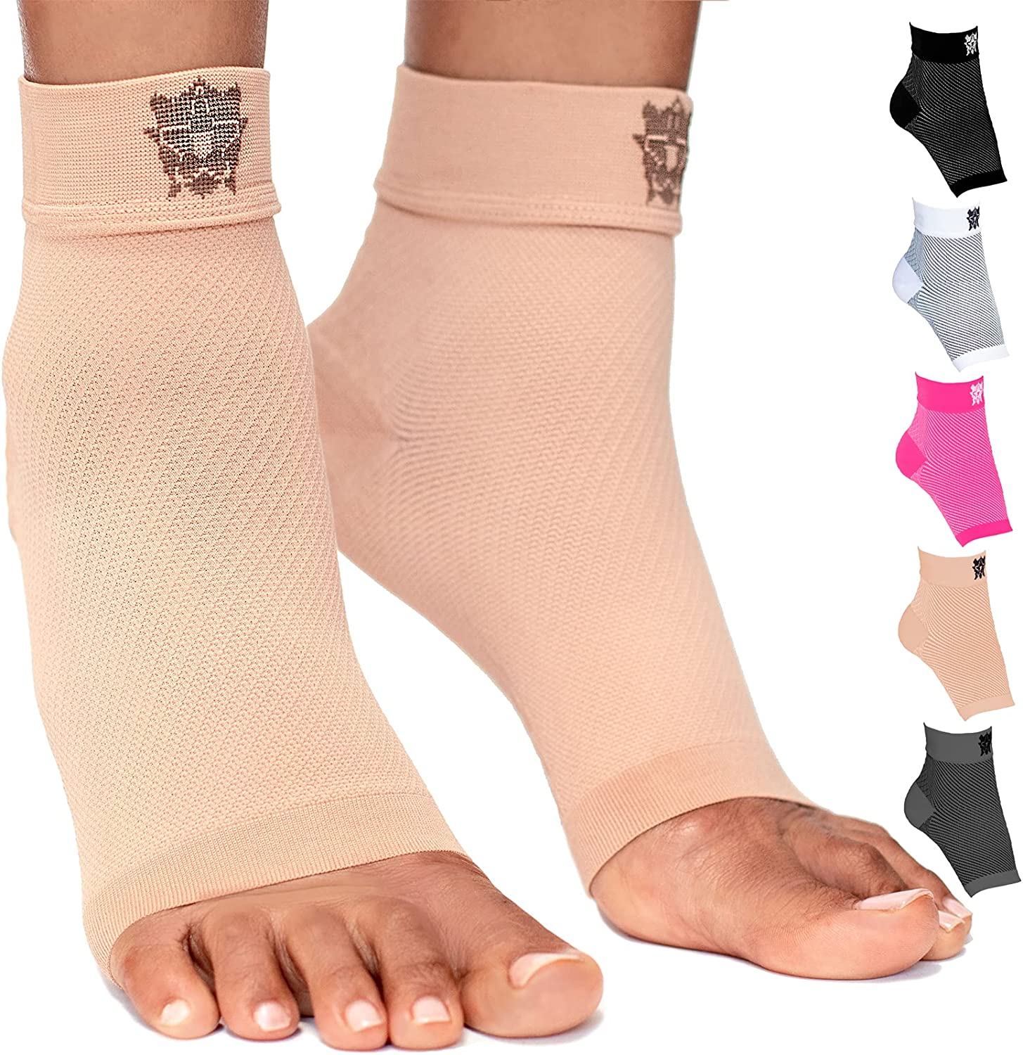 Bitly Plantar Fasciitis Compression Socks for Women & Men - Best Ankle Compression Sleeve, Nano Brace for Everyday Use - Provides Arch Support & Heel Pain Relief (Nude, Medium): Industrial & Scientific
