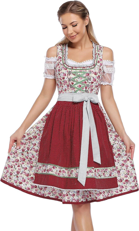 GloryStar Women's German 35% OFF Dirndl Oktob Dress Traditional Bavarian List price