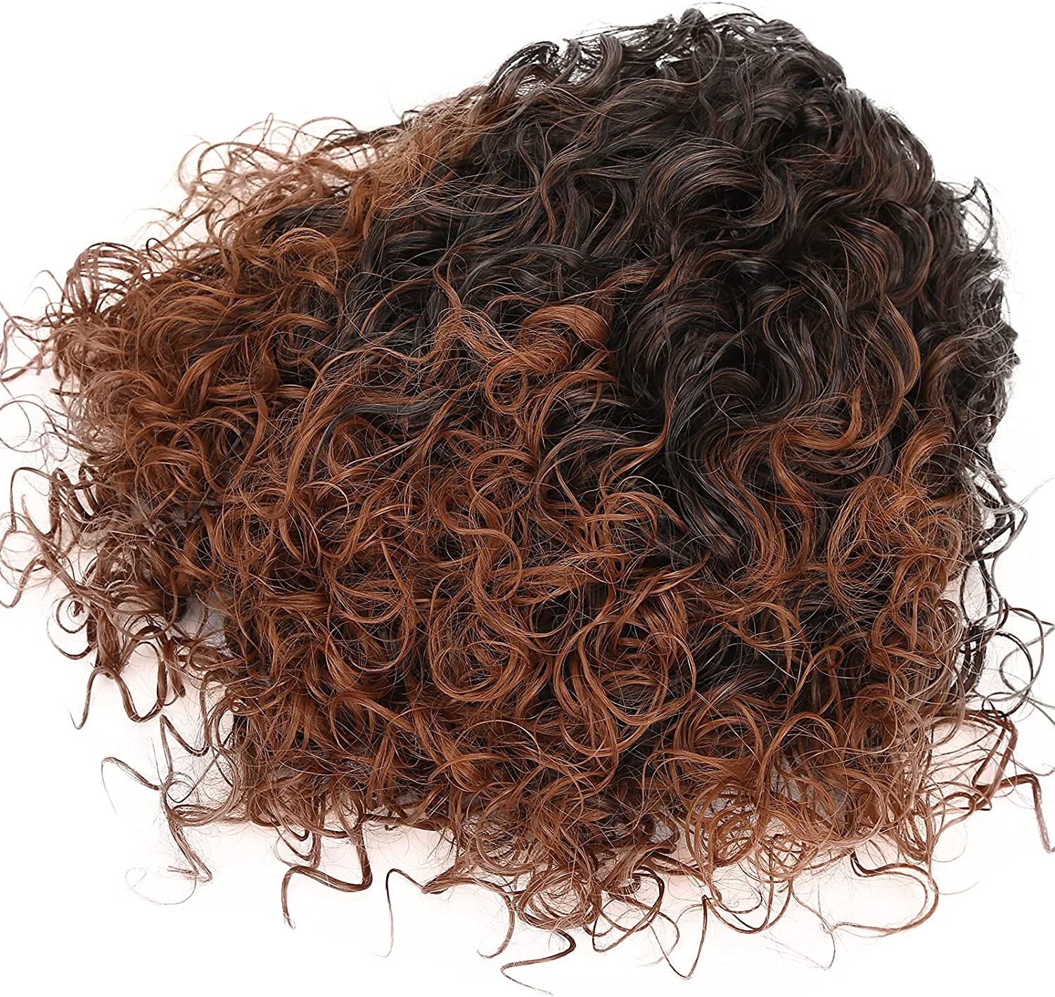 Black Woman Women Curly Wig Max 56% OFF Soft Feeling Superior Natura Breathable Hand