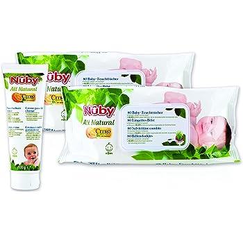 Doppelpack Nuby All Natural Antibakterielle Feuchtt/ücher f/ür Schnuller und Bei/ßringe