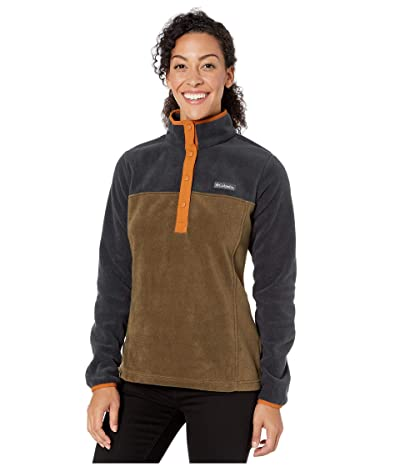 Columbia Benton Springstm 12 Snap Pullover (Olive Green/Black) Women