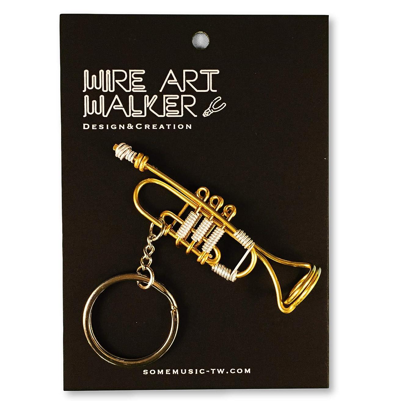 サークル入浴がんばり続ける【SomeMusicDesign】楽器ワイヤーストラップ - トランペット|音楽雑貨|クラシック音楽|Music Gift|Some Music Design