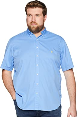 Big & Tall Garment Dyed Chino Short Sleeve Sport Shirt