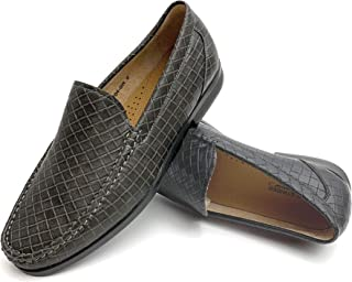Easy Strider Men's Slip On Loafer Shoes - Premium Design Material - Leather Lined Comfort - Elegant Silver Buckle - Perfect Business Dress Shoe Or Casual for Daily Wear in Regular & Big & Tall Sizes