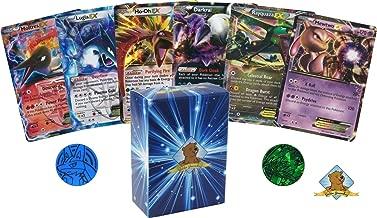 5 Pokemon Card Lot ALL LEGENDARY EX ULTRA RARES! NO Duplication! 1 Random Pokemon Coin! Includes Golden Groundhog Deck Box!