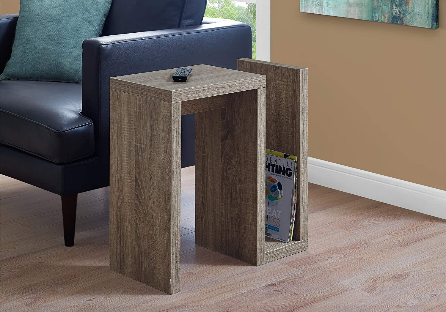 Monarch Specialties i 2090 Accent Table 24  h Dark Taupe