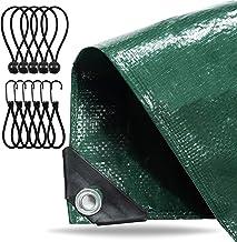 Dekzeil 4x5 meter waterdicht - 150 g/m² groen, zeildoek met oogjes voor tentbodem - stoffen dekzeil - tentzeil - construct...