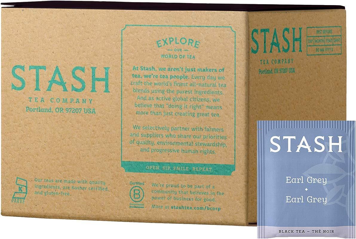 Stash Tea Earl Grey Black Tea 100 Count Box Of Tea Bags In Foil Packaging May Vary Full Caffeine Tea Black Tea With Bergamot Enjoy Hot Or Iced