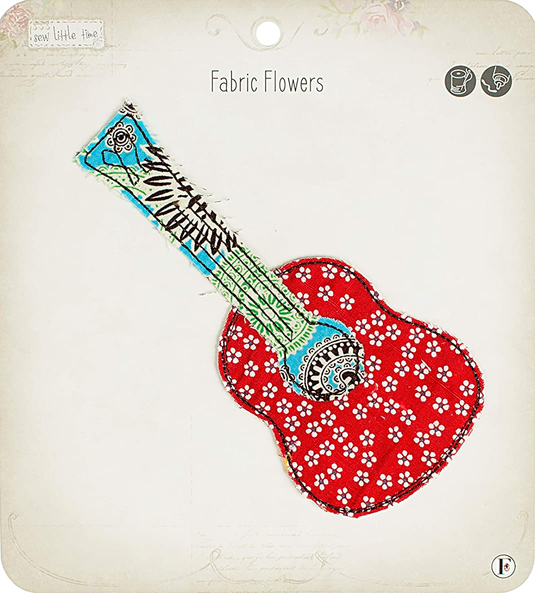 Fabric Editions APLIQGTR Little Time Sew-On Applique, Guitar