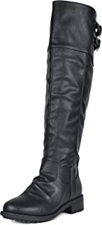 DREAM PAIRS Women's Knee High and up Riding Boots (Wide-Calf)