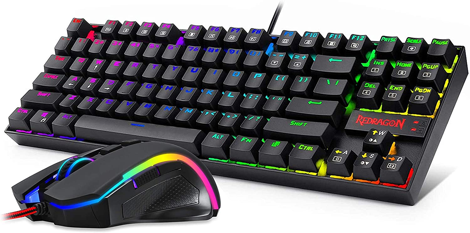 Redragon K552-RGB-BA Mechanical Gaming Mouse Keyboard Limited time for free Long-awaited shipping and Combo