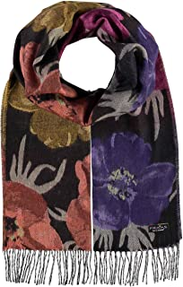 Autumn Bloom Floral Scarf Shawl - Oversized Cashmink Woven Scarf for Women
