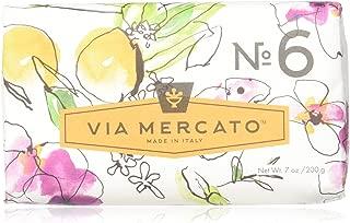 Via Mercato Italian Soap Bar (200 g), No. 6 - Orange Blossom and Cedar wood