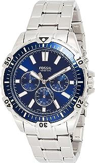 Fossil Garrett Men's Blue Dial Stainless Steel Analog Watch - FS5623