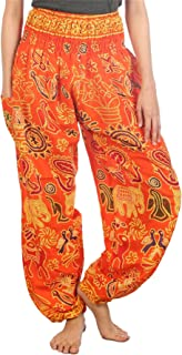 Elephant Harem Pants for Women S-4XL Plus Yoga Hippie Boho PJ Clothing
