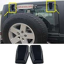 AVOMAR 2pcs ABS Rear Upper Glass Door Liftgate Hinge Covers Tailgate Hinge Trims for Jeep Wrangler & Unlimited JK 2007-2017 (Black)