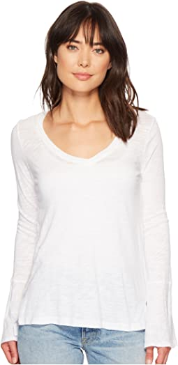 Splendid V-Neck Long Sleeve T-Shirt