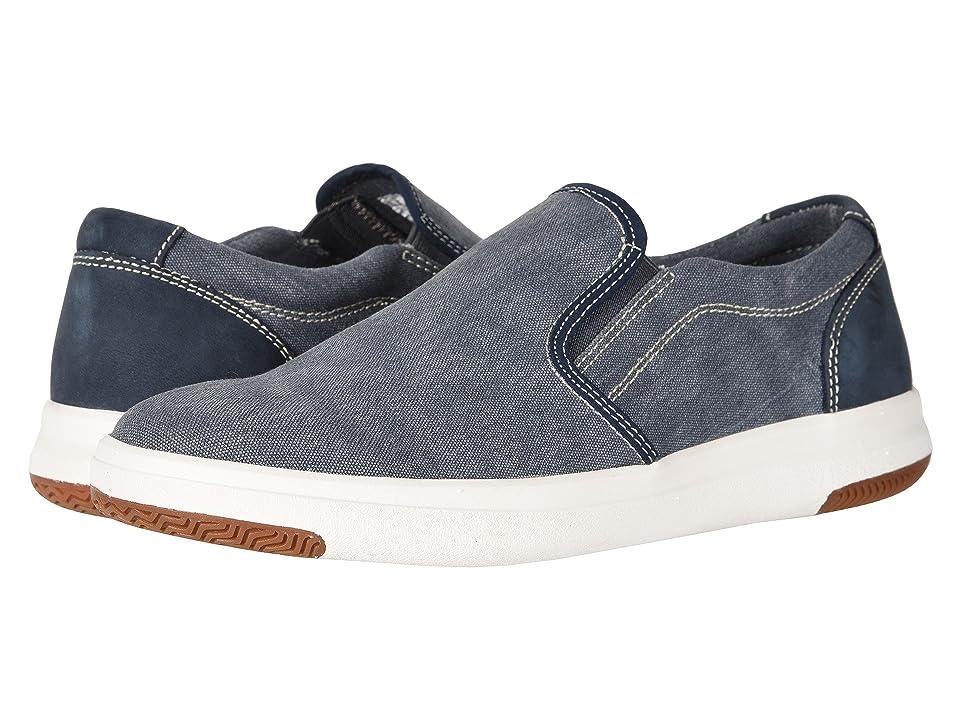 Dockers Nobel Smart Series Slip-On Sneaker with Smart 360 Flex and NeverWet (Navy Washed Canvas) Men
