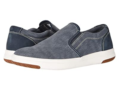 Dockers Nobel Smart Series Slip-On Sneaker with Smart 360 Flex and NeverWet (Navy Washed Canvas) Men