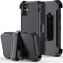 ORIbox Defense Case for iPhone 11, Shockproof Anti-Fall Protective case, Update Strong Protection with Belt Clip, Black