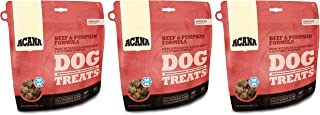 ACANA 3 Pack of Beef and Pumpkin Dog Treats, 3.25 Ounces Each, Freeze-Dried Raw Single-Source Protein