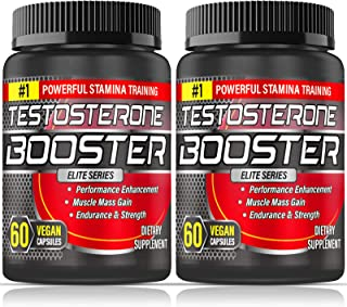 Testosterone Booster for Men, Tribulus Terrestris Capsules Maximizes Muscle, Boost..