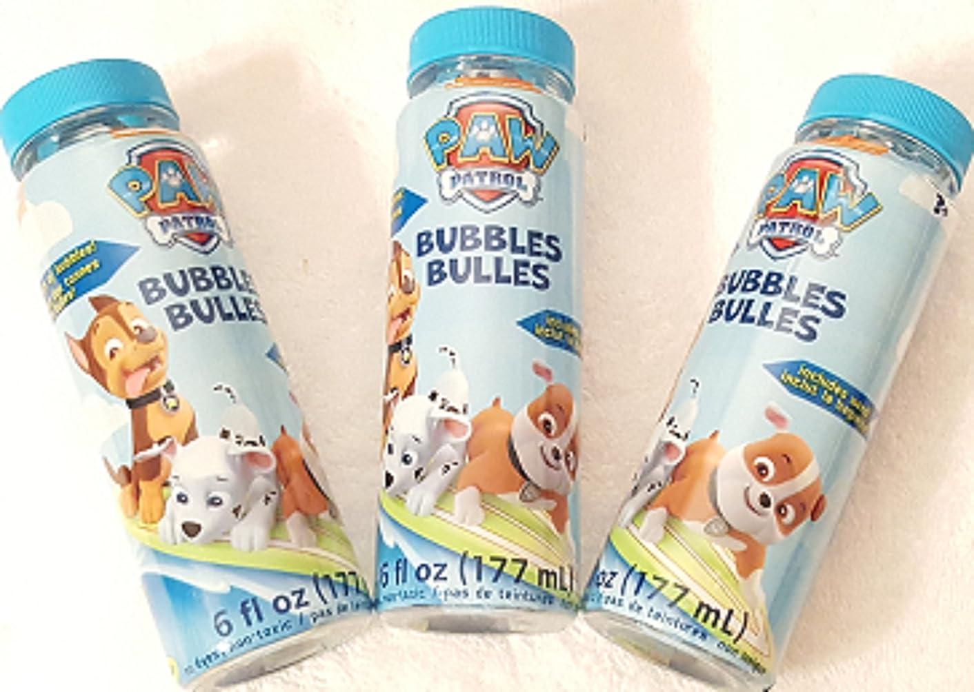 Paw Patrol Blowing Bubbles - 3 Bottles - 6 oz Each Bottle