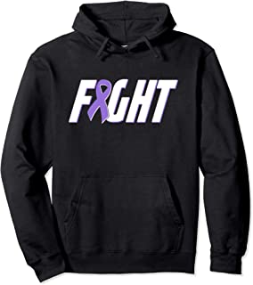Fight Lupus Purple Awareness Support Ribbon Pullover Hoodie