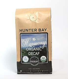 Harmony Decaf Coffee - Organic Decaf Coffee - Hunter Bay Coffee - Swiss Water Process Decaf - Medium Roast - Night Time Blend - Best Decaf - Decaf Espresso - Best Decaf Coffee Beans