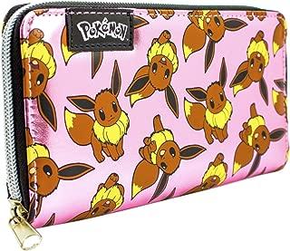 Pokemon Eevee Shiny Pink Zip Around Clutch Purse