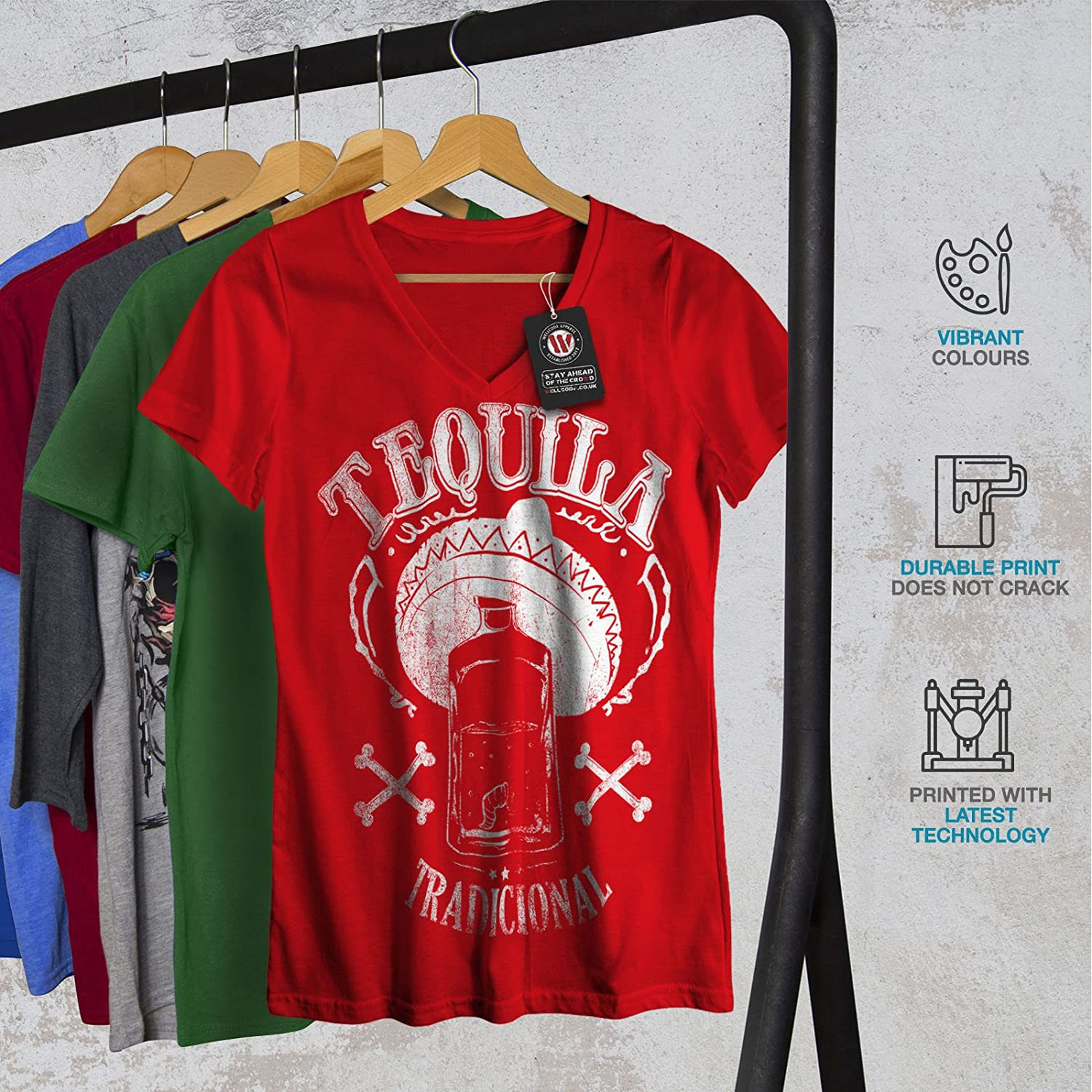 Mexican Graphic Design Printed Tee Wellcoda Tequila Traditional Mens T-shirt