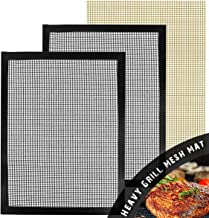 Heavy Duty BBQ mesh Grill mats Set of 3 - Non Stick mats,Durable,Reusable,13×15.75in,Suitable for Charcoal Electrical and Gas Grilling.Extended Warranty