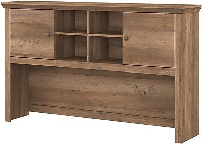 Bush Furniture Yorktown Desk Hutch, 60W, Reclaimed Pine