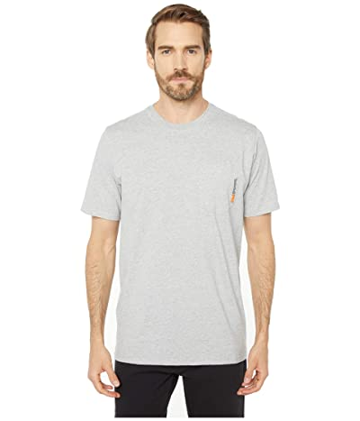 Timberland PRO Base Plate Blended Short Sleeve T-Shirt (Light Grey Heather) Men