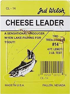خزائن زعيم الجبن من جيد ويلش مع (2) عبوة تحتوي على خطاطيف بمقاس #12 و#14، جاهزة للصيد - 4 عبوات