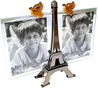 SSL TRUST ME Royal Professional Look Dual Glass Front/Back Desktop/Table top/Photo-Picture Frame with Eiffel Tower Stand f...