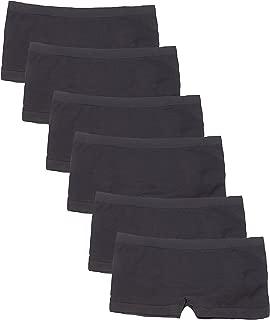 6 Pack Women's Nylon Spandex Boyshort Panties