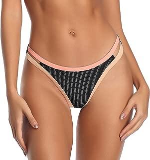SHERRYLO Brazilian Bikini Bottoms for Women Low Rise High Cut Bikinis Swimsuit Bottom for Women