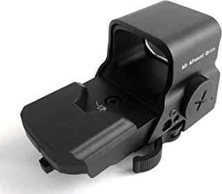 Ade Advanced Optics Crusader 8 Reticle Green and Red Dot Reflex Sight with QD Mount, Black