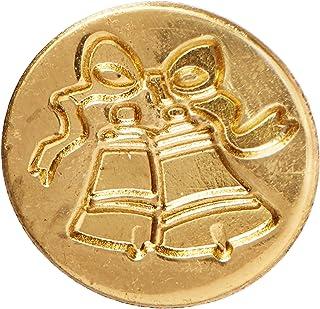 قلم المخطوطات 727BEL 1.9 سم، جرس زينة ختم عملة معدنية