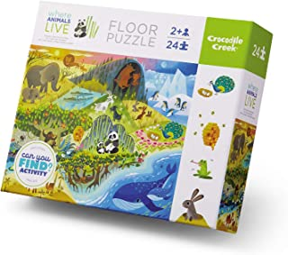 Crocodile Creek - Where Animals Live - Early Learning 24Piece Jigsaw Puzzle for Kids Ages 2 Years & Up