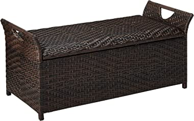 Christopher Knight Home Wing Outdoor Storage Bench, Multibrown