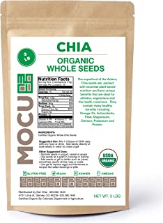 Certified Organic Chia Seeds | Triple Cleaned In USA | Cold Stored | Freshly Harvested | 3 LBS